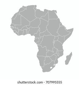 Africa world map graphic vector