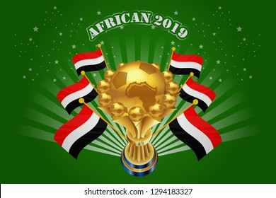 african 2019 background vector illustration - Images vectorielles