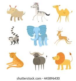 African Animals Illustration Set