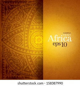 African background design template for cover design, magazine cover, banner, card design, flyer design.