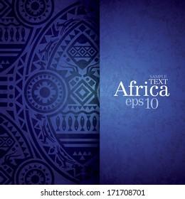 African background design template for cover design, magazine cover, banner, card design, flyer design.