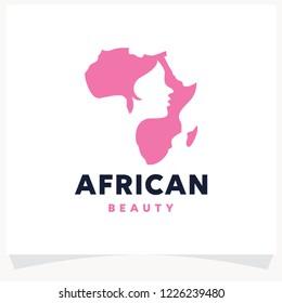 African Beauty Logo Design Template
