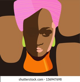 African black woman. vector illustration