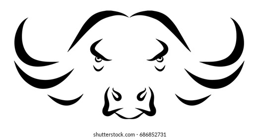 African Buffalo Head Symbol