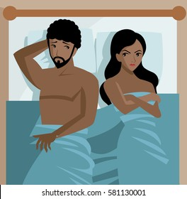 african couple in bed problems sexual dysfunction impotent