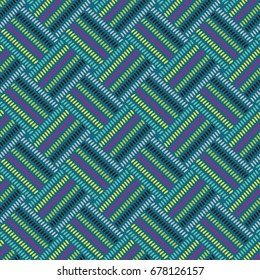 African dot pattern in color