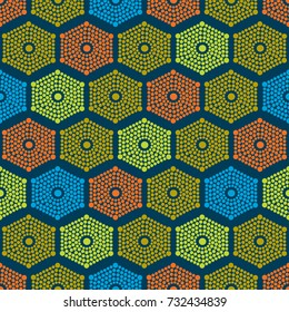 African dots pattern