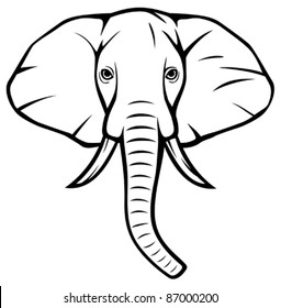 Elephant Head Images Stock Photos Vectors Shutterstock