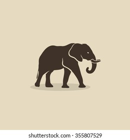 African elephant - vector illustration