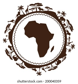 African ethnic background in design flat style.