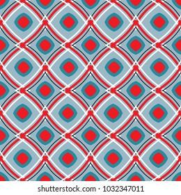 African fabric retro design