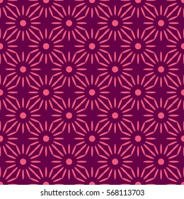 African flower pattern pink and purple