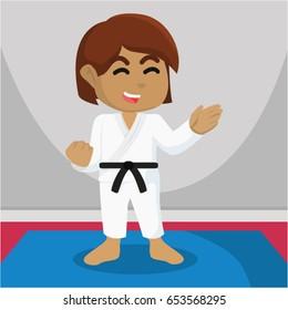 african girl karate