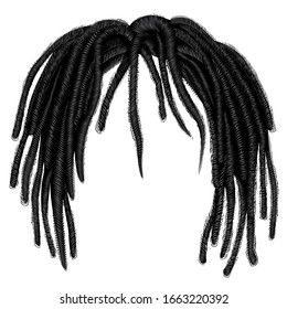 african  hair dreadlocks. hairstyle wig