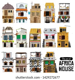 African house style - vector illustration