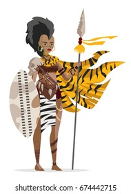 african hunter woman