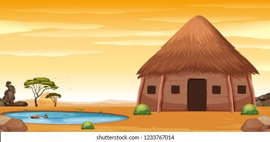 African Hut Images Stock Photos Amp Vectors Shutterstock