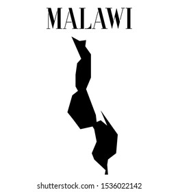 African Malawi outline world map silhouette vector illustration, creative design background, national country flag, design element, symbols from countries all continents set.