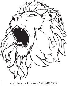 Lion Roaring Drawing Stock Vectors Images Vector Art Shutterstock