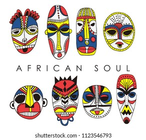 African Mask Graphic Design For Tee Shirts