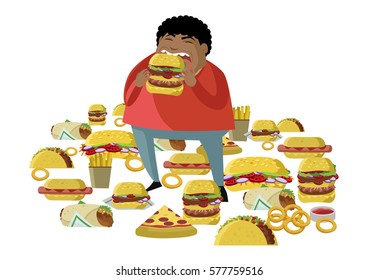 Eating Food Caartoon