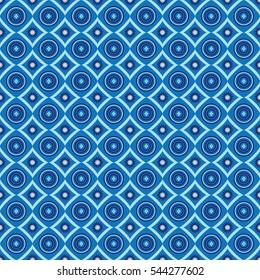 African pattern blue