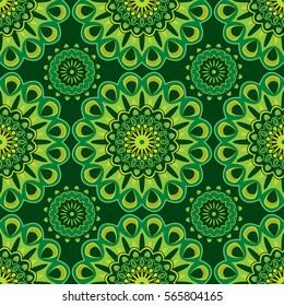 African pattern green