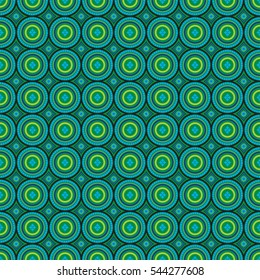 African pattern green and blule