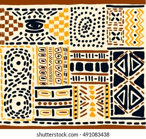 African pattern, Mexican, folk pattern, seamless geometric pattern in aztec style. Tribal ethnic vector texture. Figure tribal embroidery.