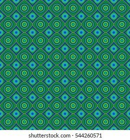 African pattern peacock colors