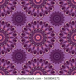 African pattern purple and pink