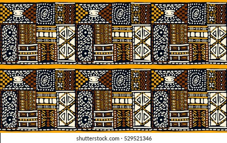 African pattern, seamless geometric pattern in aztec style. Tribal ethnic vector texture. Figure tribal embroidery. Indian, Mexican, folk pattern.