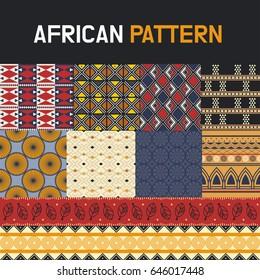 African pattern texture vector illustration flat design