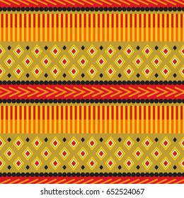African Print Design in red, orange, black and gold