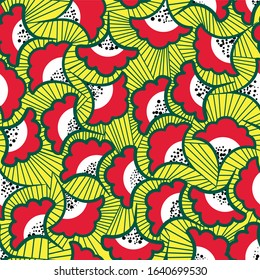African seamless design. Ethnic pattern for textile design. Exotic print