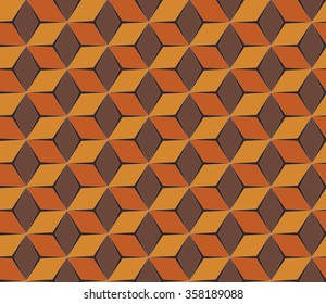African seamless pattern. Copper colors background.