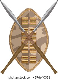 african shield with crossed spears