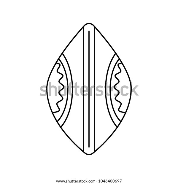African Shield Icon Outline African Shield Stock Vector (Royalty