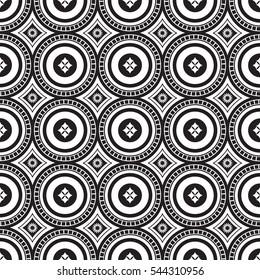 African shweshwe pattern black