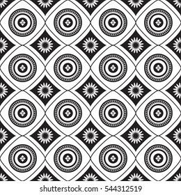 African shweshwe pattern black reverse