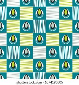 African shweshwe pattern in squares
