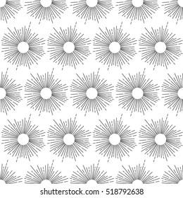 African sun pattern