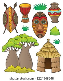 African thematics set 1 - eps10 vector illustration.