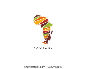 African Travel and Tourist vector logo. African Map logo template - Vector - Logo