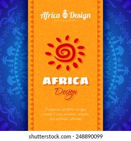 African Tribal Ethnic Art Background. Vector design