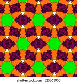 African vintage pattern bright texture with grunge effect