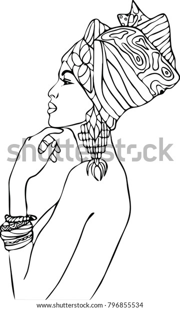 African Lady coloring page | Free Printable Coloring Pages | 620x360