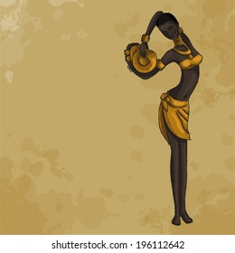 African woman with a jug