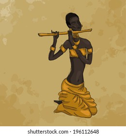 African woman with a pipe