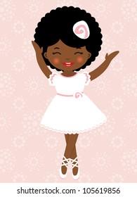 African-American dancing ballerina